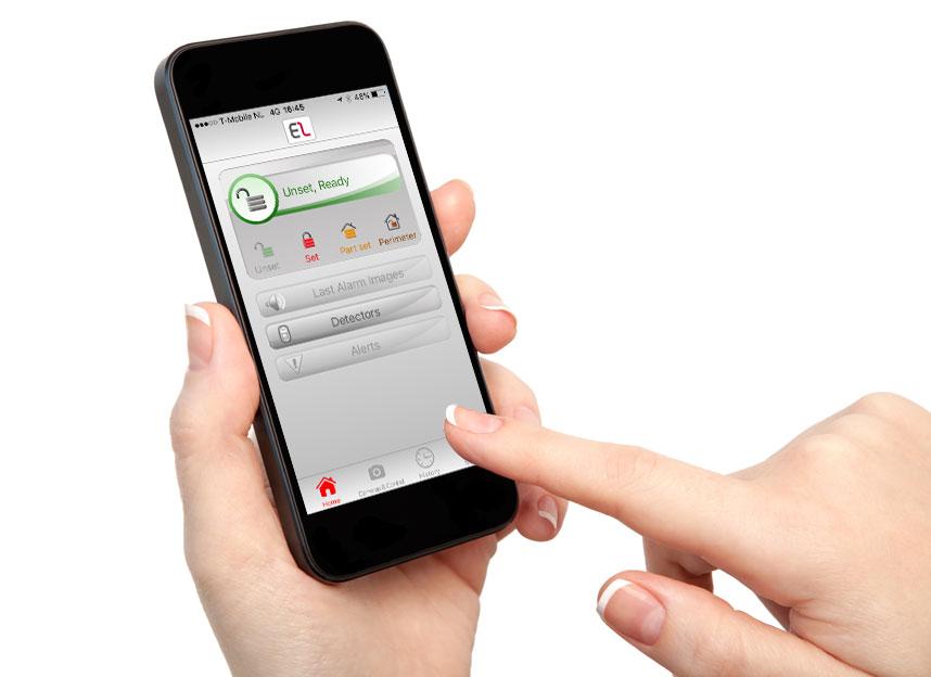 Bedien uw alarmsysteem met uw Smartphone